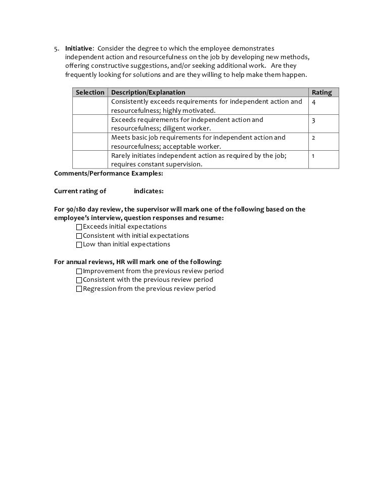 exceeds expectations performance review examples